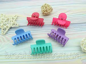 Крабики для волос 4 см каучук цветные 12 шт/уп.