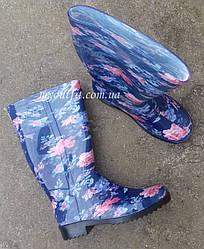 Женские резиновые сапоги Синие