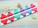 Крабики для волос 4 см каучук цветные 12 шт/уп., фото 2