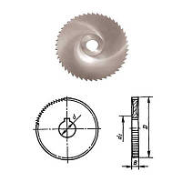 Фреза дисковая отрезная ф 250х6.0х40 мм Р6М5 z=78 отрезной зуб, со ступицей, с ш/п Globus