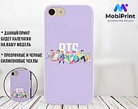 Силиконовый чехол для Apple Iphone XS BTS (БТС) (4026-3330)