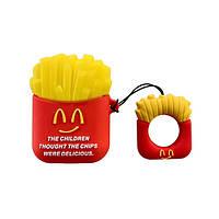 Силиконовый чехол для наушников AirPods Emoji McDonalds, фото 1
