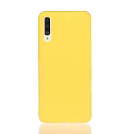 Чехол накладка для Samsung Galaxy A70 A705 силиконовый матовый, Fresh Series, желтый