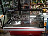 Витрина холодильная JUKA SGL 160 (-2..+5) среднетемпературная, Выкладка 740 мм, фото 3