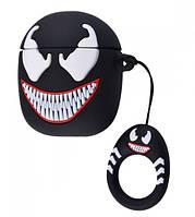 Силиконовый чехол для наушников AirPods Emoji Venom, фото 1