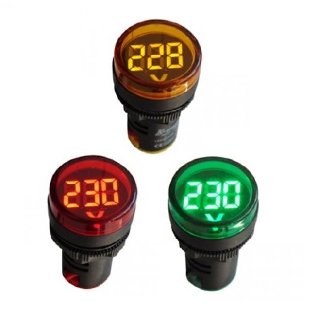Сигнальная лампа индикатор вольтметр 20-500В