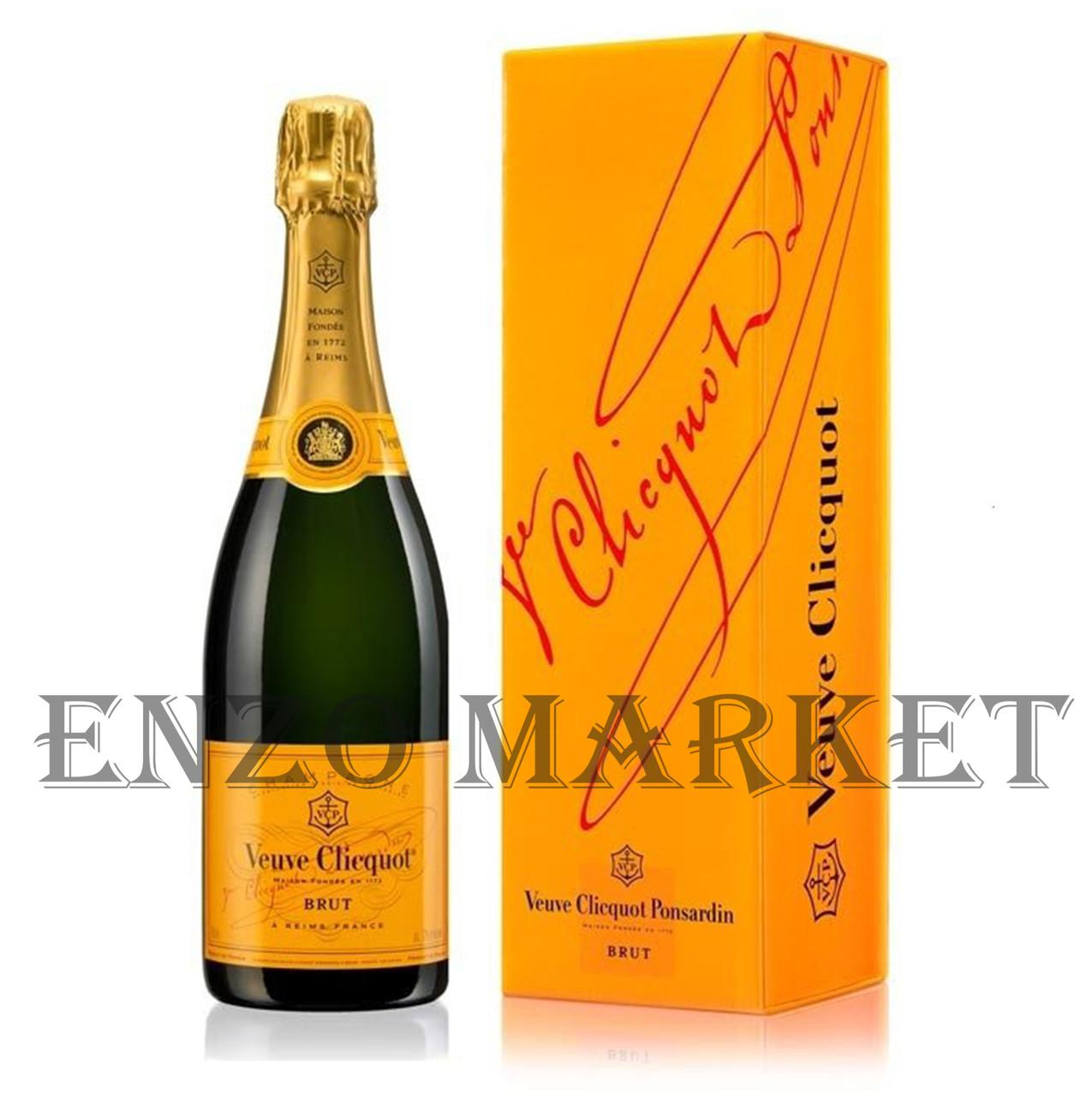 Шампанское Veuve Clicquot Brut (Вдова Клико Брют в коробке) 12%, 0,75 литра