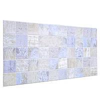 Пластиковая Декоративная Панель ПВХ плитка МРАМОР ГОЛУБОЙ (964X484) мм