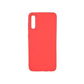 Чехол накладка для Samsung Galaxy A70 A705 силиконовый матовый, Fresh Series, красный