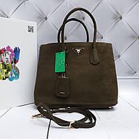 Женская сумка Prada оливковая