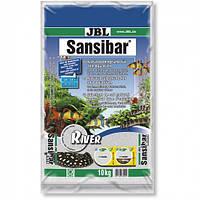 Светлый мелкий донный грунт с чёрными камешками JBL Sansibar River для террариумов, пресноводных и морских аквариумов, 10 кг