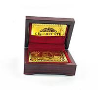 Карты игральные пластиковые Duke Gold Foil в шкатулке 54 листа 87х62 мм DN32376, КОД: 717738