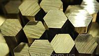 Латунный шестигранник № 41 мм ГОСТ ЛС59-1, Л63 п/тв