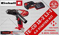 (Power X-Change) Аккумуляторный Ударный дрель шуруповерт Einhell TE-CD 18-2 Li-i (4513802) 4.0 kit