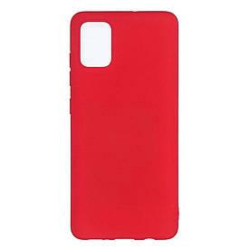 Чехол накладка для Samsung Galaxy A71 A715 силиконовый матовый, Fresh Series, Красный
