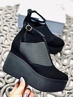 41 р. Туфли женские черные замшевые, из натуральной замши, натуральная замша, фото 1