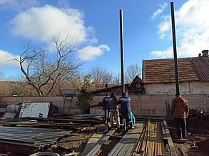Встановлення та бетонування опор ферми.