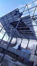 Монтаж сонячних панелей.