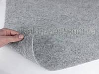 Карпет автомобильный серый, толщина 2.2мм, ширина 1,40м, плотность 300г/м2