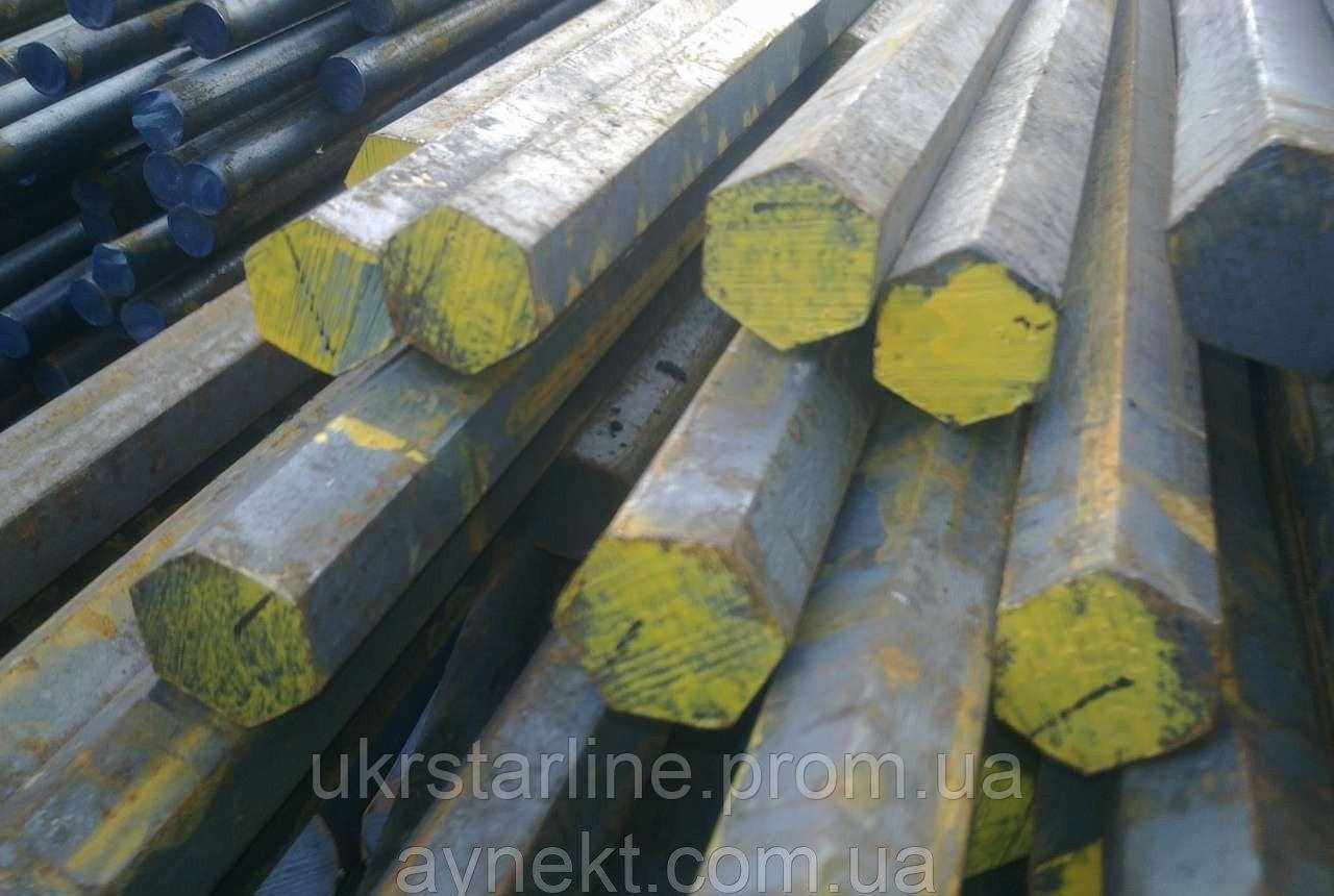 Шестигранник стальной калиброванный № 17 мм ст. 20, 45 отрезаем кратно метра.
