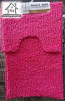 Набор ковриков для ванной комнаты Лапша 80*50 см (розовый)