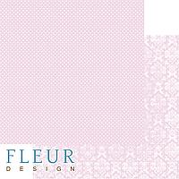 """Лист бумаги для скрапбукинга """"Нежный Розовый"""", коллекция """"Шебби Шик Базовая 2.0"""", 30,5х30,5 см, плотность 190"""
