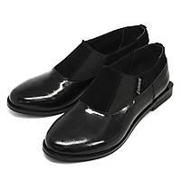 Туфли женские лаковые с двумя резинками от производителя., фото 1