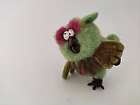 Хенд мейд Игрушка ручной работы игрушка Сова подарок сувенир Игрушка из валяной шерсти ARTDEKOR