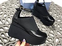 35 р. Туфли женские черные кожаные, из натуральной кожи, натуральная кожа, фото 1