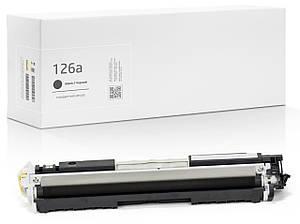 Сумісний Картридж HP 126A (CE310A) Black, 1.200 копій, аналог від Gravitone (GTH-CRG-CE310A-TN-BK)