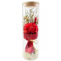 Роза в колбе с LED подсветкой | Большая