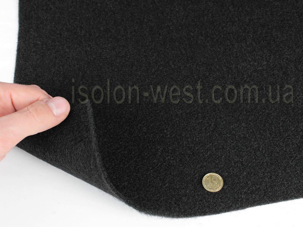 Карпет Лайт автомобильный черный, толщина 2.2мм, ширина 1,40м, плотность 300г/м2