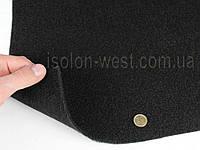 Карпет автомобильный черный, толщина 2.2мм, ширина 1,40м, плотность 300г/м2