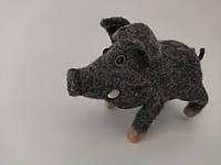 Хенд мейд Игрушка ручной работы игрушка Свинка подарок сувенир Игрушка из валяной шерсти ARTDEKOR