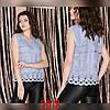 Красивая блузка-топ без рукавов 44-46 (в расцветках), фото 2