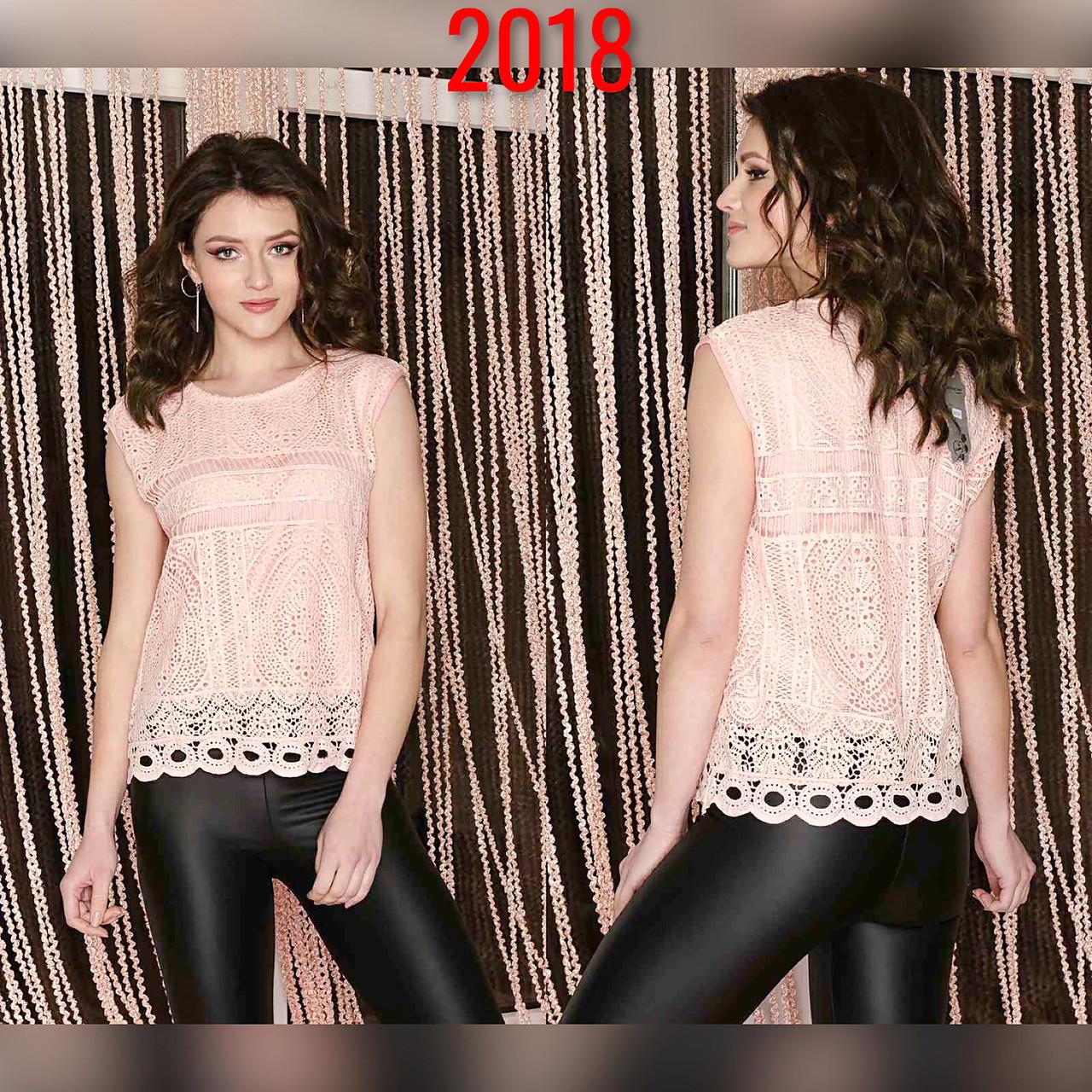 Красивая блузка-топ без рукавов 44-46 (в расцветках)