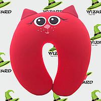 Подушка для путешествий Кошка красная