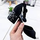 Женские босоножки черного цвета, эко замша 38 ПОСЛЕДНИЙ РАЗМЕР, фото 3