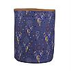 Мешок (корзина) для хранения, Ø35 * 45 см, (хлопок), с отворотом (ловец снов синий / карамель), фото 2