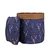 Мешок (корзина) для хранения, Ø35 * 45 см, (хлопок), с отворотом (ловец снов синий / карамель), фото 3