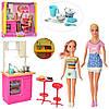 Лялька DEFA 29,5 см,донька 22см, кухня 31-14см, посуд