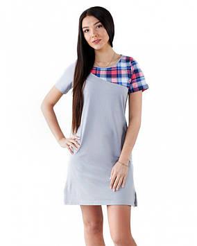 Жіноча нічна сорочка з бавовни (розміри XS-3XL)