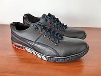 Туфли мужские спортивные черные прошитые удобные ( код 5588 ), фото 1