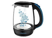Чайник электрический 1.7 л Liberton LEK-1703-black-blue