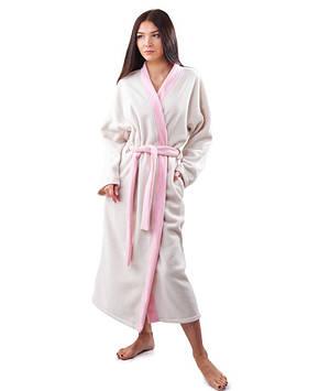 Довгий жіночий халат плюшевий (розміри S-XL)