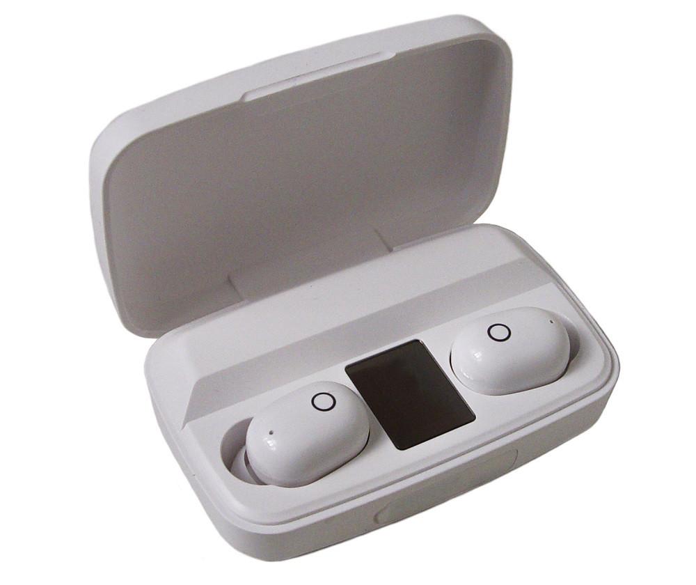 Наушники вакуумные Bluetooth TWS J16 с зарядным кейсом, белые