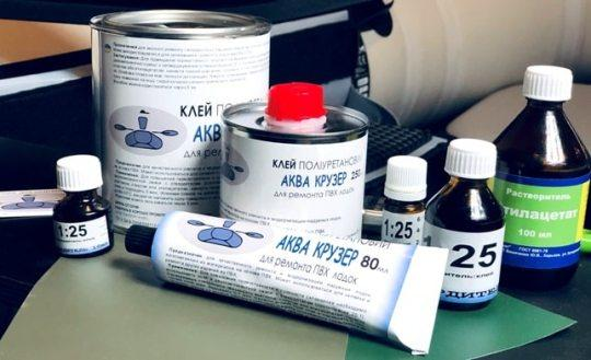 двокомпонентний поліуретановий клей для надувних лодк ПВХ - клей для човни ПВХ - Аква Крузер