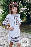 """Вишите плаття для дівчинки """"Дрібні квіти"""", фото 3"""