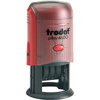 Датер со свободным полем пластиковый круглый Trodat 46130 Ø 30 мм красный