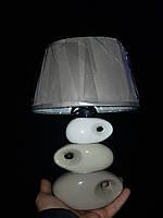 Настольная лампа камни с абажуром